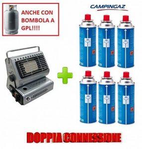 Poêle Campingaz chauffage à gaz Portable Double attaque gPL/Butane + 6Cartouche originale en hommage de la marque ALTIGASI image 0 produit