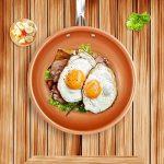 Poêle Cuisine Anti Adhésive Tous Feux, Sauteuse, Poêle à Frire, Poêlon en Cuivre, avec revêtement céramique et cuisson à induction,Compatible Lave-vaisselleet Four (24cm) de la marque Kyonne image 1 produit