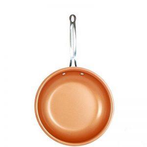 Poêle Cuisine Anti Adhésive Tous Feux, Sauteuse, Poêle à Frire, Poêlon en Cuivre, avec revêtement céramique et cuisson à induction,Compatible Lave-vaisselleet Four (24cm) de la marque Kyonne image 0 produit