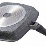 Poêle grill en pierre avec manche amovible - 28cm x28 cm poêle à steak/légumes Poêle Coninx Stone - pour tous feux, inclusif l'induction - poignée détachable - garantie 3 ans - 100% libre de PFOA de la marque Coninx® image 3 produit