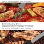 POLIGO 20pcs en acier inoxydable outils de barbecue Grill Set - ensemble complet d'ustensiles de barbecue en plein air, accessoires de barbecue robustes en étui de transport en aluminium - parfait cadeau pour les hommes de la marque POLIGO image 4 produit