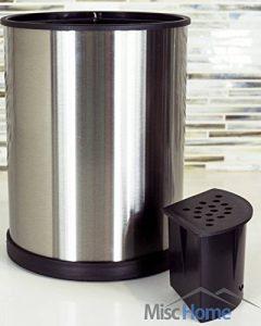 Porte-ustensiles de cuisine en acier inoxydable - Pot rotatif range couverts pour vos spatules et ustensiles de cuisine en acier inoxydable brossé résistant aux empreintes de doigts de la marque Misc Home image 0 produit