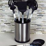 Porte-ustensiles de cuisine en acier inoxydable - Pot rotatif range couverts pour vos spatules et ustensiles de cuisine en acier inoxydable brossé résistant aux empreintes de doigts de la marque Misc Home image 2 produit