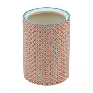 Pot à ustensiles de cuisine orné de motifs - en porcelaine - imprimé orange de la marque Nicola Spring image 0 produit