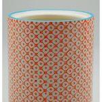 Pot à ustensiles de cuisine orné de motifs - en porcelaine - imprimé orange de la marque Nicola Spring image 4 produit