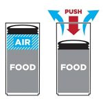 Prepara 3040 Evak Boîte de Rangement Haute Plastique Blanc/Transparent 20 x 9,6 x 9,6 cm de la marque Prepara image 2 produit