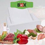 Professionnel Boîte XXL 59,5x 39,5x 40,0cm, mural: 3cm, V = 60,93L, boîte de polystyrène blanc Box Boîte thermique Glacière Isotherme Grand de la marque THERM-BOX image 2 produit