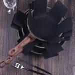 Protection casseroles et protège-poêle–Set 8Pièces–Longueur 38cm–Parfaits pour casseroles et poêles anti-adhésives en acier inoxydable, fonte, céramique de la marque NNDOLL image 1 produit
