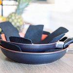 Protège poêles et séparateur de casseroles Cherafone – Lot de 5 – Parfaits pour éviter les rayures sur des poêles anti-adhésives, ainsi que sur des poêlons en acier inoxydable, en fonte ou en grès de la marque Chefarone image 2 produit
