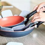 Protège poêles et séparateur de casseroles Cherafone - Lot de 5 - Parfaits pour éviter les rayures sur des poêles anti-adhésives, ainsi que sur des poêlons en acier inoxydable, en fonte ou en grès de la marque Chefarone image 2 produit