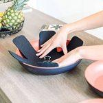 Protège poêles et séparateur de casseroles Cherafone – Lot de 5 – Parfaits pour éviter les rayures sur des poêles anti-adhésives, ainsi que sur des poêlons en acier inoxydable, en fonte ou en grès de la marque Chefarone image 1 produit