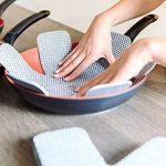 Protège poêles et séparateur de casseroles Cherafone - Lot de 5 - Parfaits pour éviter les rayures sur des poêles anti-adhésives, ainsi que sur des poêlons en acier inoxydable, en fonte ou en grès de la marque Chefarone image 1 produit