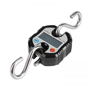 Pèse Bagage Valise avec 2 Crochets acier inox Numérique Grue Portable LCD Électronique Échelles Suspendues Pesant Équilibre pour Maison Ferme Usine Chasse 150 Kg(Noir) de la marque Fdit image 0 produit
