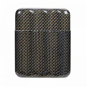qualité supérieure 4 doigt support de boîtier de cigare de la fibre de carbone, boîte de cigarettes dur lisse mince fraîche de la marque Daptsy image 0 produit