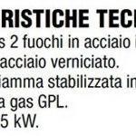 Réchaud à gaz GPL (bouteilles) avec 2feux–Châssis en acier avec couvercle verni anthracite + Kit régulateur pour bouteilles attaque italie de la marque ALTIGASI image 2 produit
