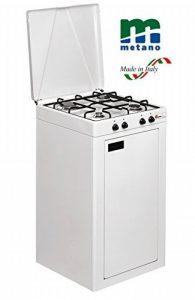 Réchaud Parker alimentation méthane (gaz de Citta ') avec 4feux couleur blanc noir avec grille émaillé + Meuble avec porte–pour usage extérieur - de la marque ALTIGASI image 0 produit