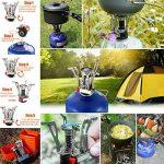 Réchaud de Camping, Aodoor Mini réchaud portable léger à gaz en métal Pour Camping Randonnée, Très puissant, de haute qualité, chromé de la marque Aodoor image 5 produit