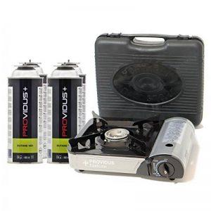 Réchaud gaz portable 2.2 kw Providus FC300G piezo + 4 cartouche gaz butane camping de la marque Providus image 0 produit