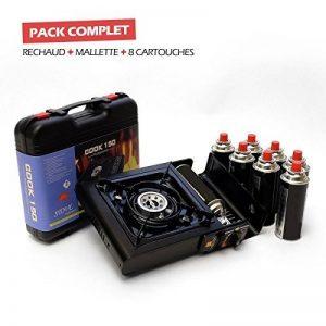 Rechaud gaz portable piezo COOK 150 + 8 cartouches de gaz camping 227gr butane de la marque Proweltek image 0 produit