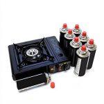 Rechaud gaz portable piezo COOK 150 + 8 cartouches de gaz camping 227gr butane de la marque Proweltek image 1 produit