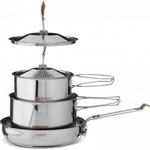 Relags Primus de 'Camp Fire'–Petit set de casseroles en acier inoxydable, argent, S de la marque Relags image 0 produit