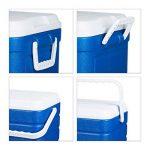 Relaxdays Glacière lot de 3 10l-60l sacs isothermes évacuation eau, bleu-blanc de la marque Relaxdays image 4 produit