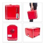 Relaxdays Mini Réfrigérateur env. 4L env. 28x 18x 25cm 12V Rouge de la marque Relaxdays image 4 produit