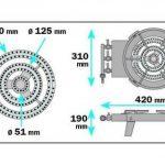 Ribiland - prf391/34 - Réchaud à gaz quadripatte en fonte 8.6kw de la marque Ribiland image 1 produit
