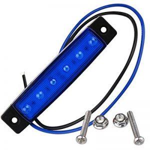 RUGGUANG LIGHTS Ampoules, Ampoules domestiques, 3W 200~300lm bleues lampes frontales de voyant lumineux de marqueur pour le camion 6 LED allume DC 24V 2PCS Ampoules de la marque RUGGUANG LIGHTS image 0 produit