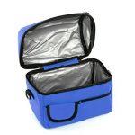 Sac Fraicheur Isotherme Impermeable Sac à Déjeuner en Tissu Oxford Lunchbox Refrigere pour Picnic/Voyage/Camping /Repas /Sport /Ecole /Travail /Déjeuner Sac à Main Unisexe Couleur- Bleu Foncé de la marque BXT image 2 produit