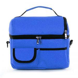 Sac Fraicheur Isotherme Impermeable Sac à Déjeuner en Tissu Oxford Lunchbox Refrigere pour Picnic/Voyage/Camping /Repas /Sport /Ecole /Travail /Déjeuner Sac à Main Unisexe Couleur- Bleu Foncé de la marque BXT image 0 produit