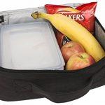 Sac Isotherme Repas Enfant S1: InsigniaX Thermos Lunch/Dejeuner Bag/Box Pour Les Hommes Femme Fille Garcon Bebe Travail Avec Tupperware Taille 25,4 x 13 x 23,3 cm (Grand, Noir) de la marque InsigniaX image 4 produit
