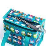 Sac Repas Lunch Bag Sac à Déjeuner Sac Fraîcheur Portable Isotherme Hibou vert 22cm X 16cm X 12cm de la marque TEAMOOK image 3 produit