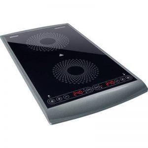 Sencor SCP 5404GY Plaque de cuisson à induction double zone - 2900W - diamètres de 145 et 167 mm - Contrôle de la température entre 60 et 240°C par étape de 20°C de la marque SENCOR image 0 produit