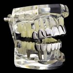 Sharplace Hip Hop Grills Fond & Haut Dents Amovibles 18k Or Plaqué Charms 1 paire de la marque Sharplace image 4 produit