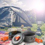 Skysper Camping casseroles kit extérieur portable Ensemble de cuisson en aluminium pour camping randonnée BBQ pique-nique (1–2personnes) de la marque Skysper image 5 produit