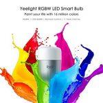 SMART Wifi ampoules, 16millions de couleurs, E279W RGB, WiFi télécommande compatible avec Amazon, Alexa à changement de couleur Feux blancs de la marque Yeelight image 1 produit