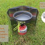 SOLEADER Haut Pare-vent de Camping Compact Portable Pliable Ultra-légers 10 Plaques Accessoires pour Réchaud à Gaz de Camping de la marque SOLEADER image 4 produit