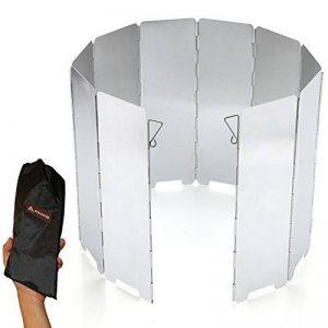 SOLEADER Haut Pare-vent de Camping Compact Portable Pliable Ultra-légers 10 Plaques Accessoires pour Réchaud à Gaz de Camping de la marque SOLEADER image 0 produit