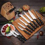 SONGMICS Set de 15 Couteaux de Cuisine en Inox, Tranchants, Manches à rivets, pour Cuisine, Hôtel, Restaurant KBS01SV de la marque SONGMICS image 1 produit