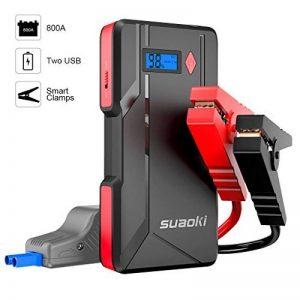 Suaoki P6 - Démarreur de voiture 800A, Booster Batterie Démarrage Voitures jusqu'à 6.0L gaz ou 5.0L diesel (affichage d'affichage à cristaux liquides, sorties USB doubles, LED, câble intelligent) de la marque SUAOKI image 0 produit