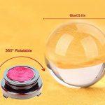 Sumnacon Boule en verre claire pour Photographie, Décoration - Sans bulle, Transparent avec le Support en Bois (60mm,80mm,100mm) (60mm) de la marque Sumnacon image 3 produit