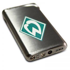 SV werder bremen luxus briquet allumage piezo-avec logo en métal chromé - de la marque Werder-Bremen image 0 produit