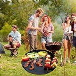Tapis Barbecue, 3 PCS Feuille Pour Barbecue Tapis de Cuisson Réutilisable en Fibre de Verre Mat 40*33 cm Noir de la marque LuckyStart image 2 produit