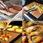 Tapis de Barbecue,Feuilles de Barbecue Anti-adhésif Réutilisable et Résistant à la Haute Température Tapis de Cuisson pour Viande Légumes Fruits SGS FDA Approuvé 5 packs de la marque QH-Shop image 3 produit