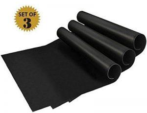 Tapis de barbecue   Feuilles de cuisson   set de 3 pièces   réutilisable   fabriqué en silicone avec teflon   100% anti-adhésif   accessoires bbq de la marque Coninx® image 0 produit