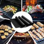 Tapis de barbecue   Feuilles de cuisson   set de 3 pièces   réutilisable   fabriqué en silicone avec teflon   100% anti-adhésif   accessoires bbq de la marque Coninx® image 3 produit