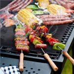 Tapis de Cuisson,BBQ Gril Meerveil Set de 5 Tapis BBQ Barbecue Plaque Feuille de Cuisson Four Résistant à la Chaleur la Cuisson sur le Gaz, Charbon de Bois, Four et Grils électriques pour la Viande Grillée, Légumes, Fruits de la marque Meerveil image 4 produit
