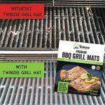 Tapis de Cuisson Haute Qualité pour Barbecue et Four - Set de 2 Tapis très épais de 40*33 cm pour les barbecue à gaz, charbon et électriques. 100% Anti-adhérent. L'accessoire indispensable pour cet ét de la marque Twinzee image 2 produit