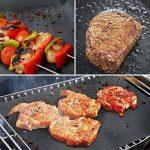 Tapis de Cuisson, TACKLIFE Set de 4 Tapis Barbecue BBQ , 100% anti-adhérent, Tapis Feuille de Cuissonréutilisable et facile à nettoyer, certifié par FDA, Barbecue sain, convenant pour Barbecue à Gaz, Charbon ou Four électrique -41 x 33 cm GBGM1A de la ma image 2 produit